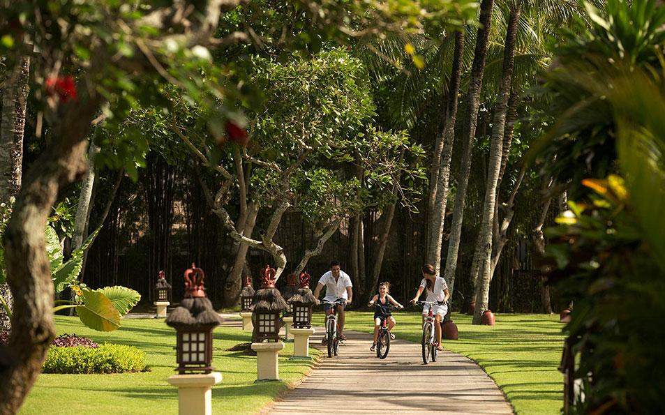 Bicycle at Resort garden