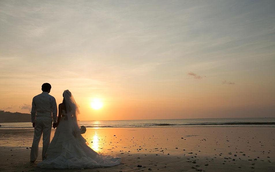 weddings sunset