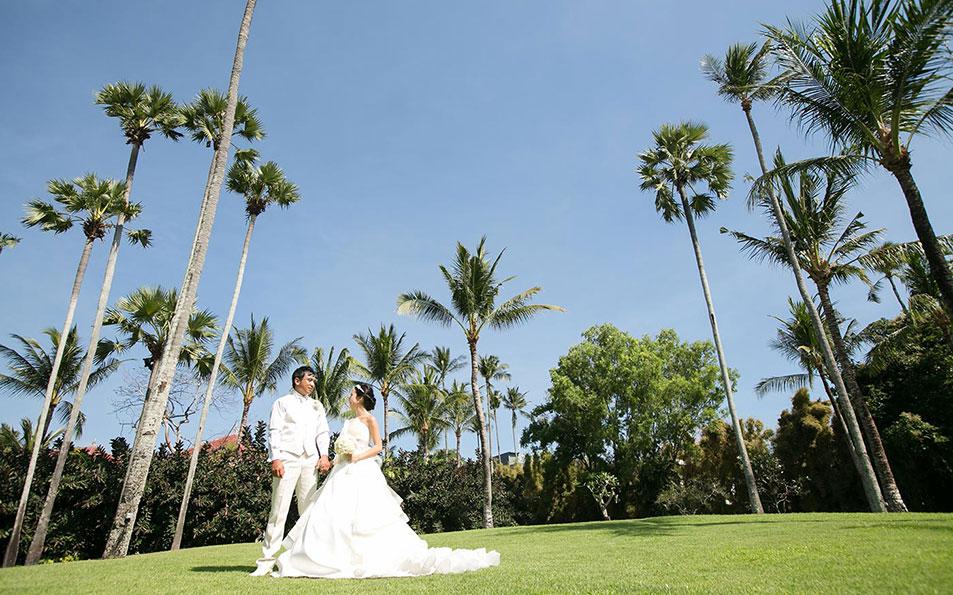 wedding Couple Garden